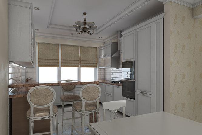 современная классика интерьер частный дом
