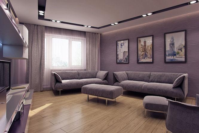 """дизайн зала в современном стиле мособлстрой  """" дизайн интерьера """""""
