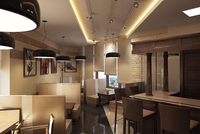 """дизайн маленькой кофейни  """" дизайн интерьера """""""