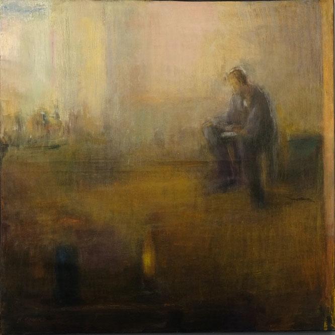 B. Rouyard, Grand intérieur, tempera et huile sur toile, 130x130