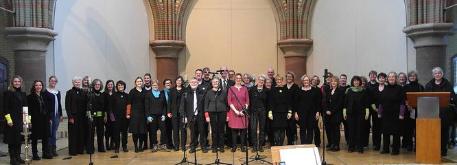 Foto Vicelin Voices im Februar 2017 in der St. Johannis-Kirche Altona