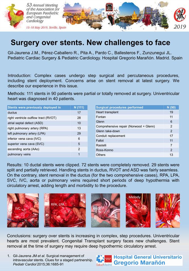 Este es uno de  nuestros posters presentados en el pasado congreso europeo de cardiopatias congenitas.