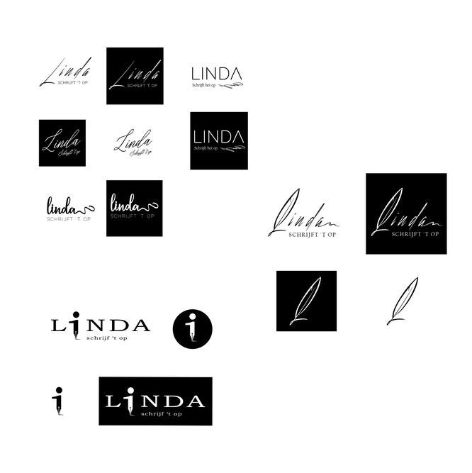 Logo Linda schrijft 't op laten maken