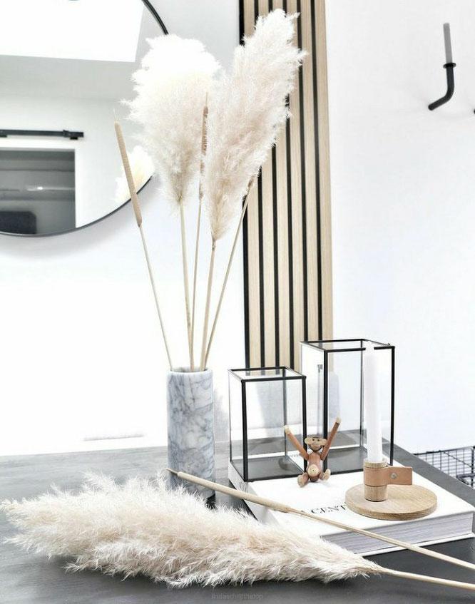 warm gezellig zwart-wit interieur