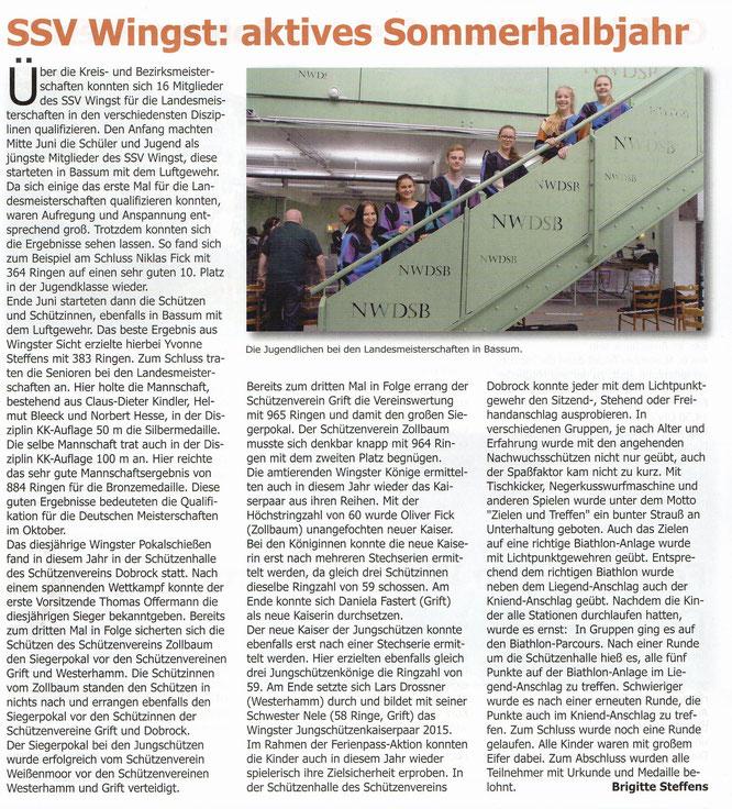 Bericht im Dobrock-Magazin Oktober 2015