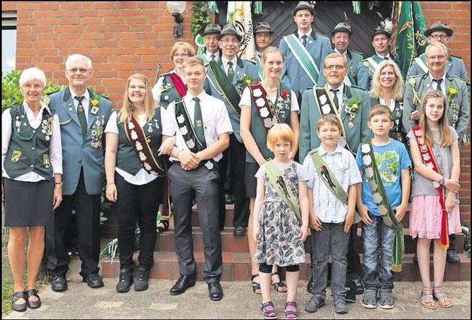 Königsfamilie Schützenverein Dobrock  (Foto Vinup)