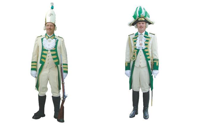 Uniformen bei der Prinzengarde Leverkusen