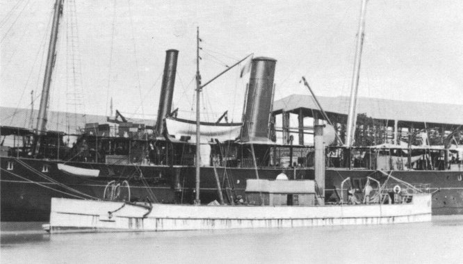 Le Plongeur, transformé en bateau-citerne