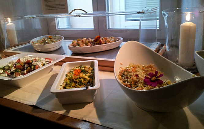 Gutshaus Parin, Biohotel, Ostsee, vegetarisches Essen, veganes Buffet