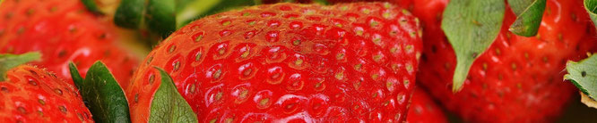 Photo of strawberries as an example for a strong flavor