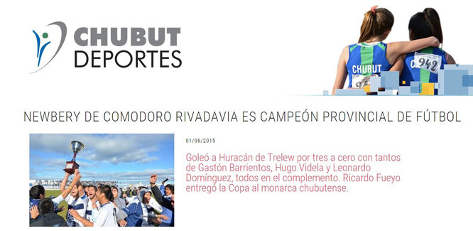 Así publicó Chubut Deportes, principal impulsor de esta competencia.