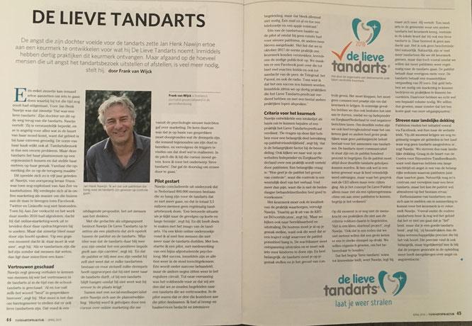 interview met De Lieve Tandarts in de TP van april 2018