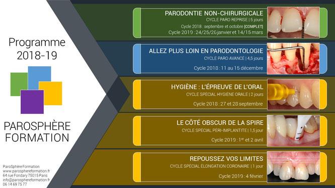 ParoSphère Formation | Agenda 2018-2019