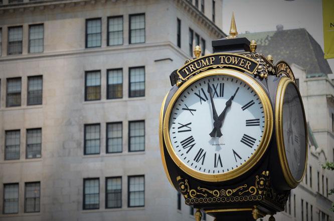 Uhr des Trump-Towers