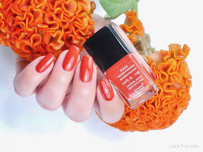 CHANEL • ROUGE ROUGE ÉVASION AUTUMN FANTASY (VERNIS LAQUE made in U.S.A.)