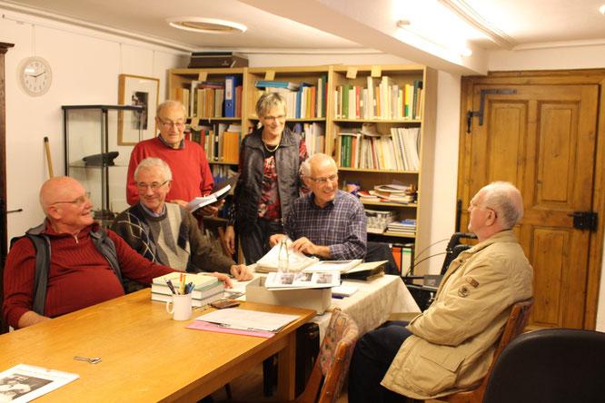 v.l. Norbert Richter, Alois Biegel, Kurt Müller, Ilona Jung, 1. Vorsitzender Werner Rauber, Hubert Jung