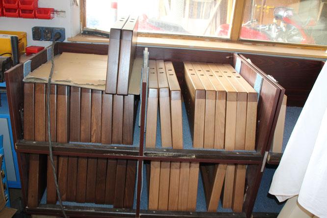 Vorgefertigte Holzplatten aus Buche für die Sessel