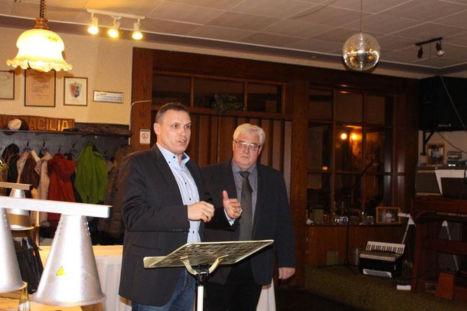 Bürgermeister Stephan Rausch und Ortsvorsteher Norbert Rauber