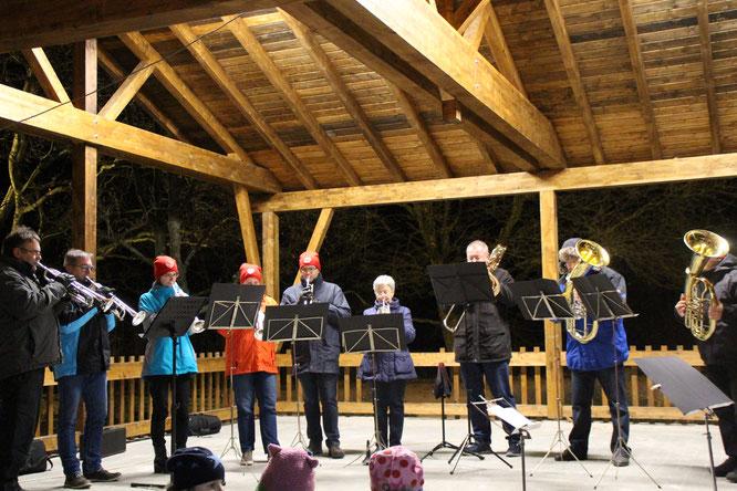 Musikverein Harmonie Gronig mit den Blechbläser Ensemble
