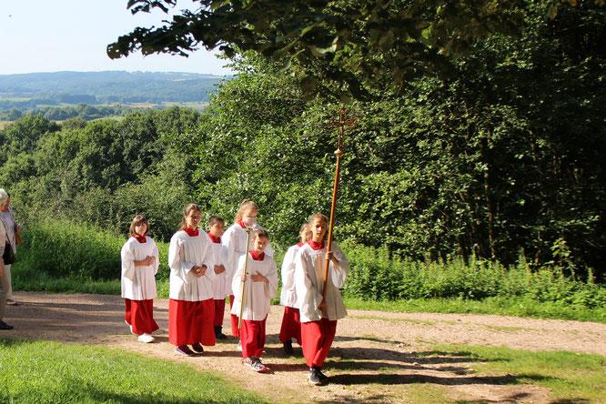 Messdiener der Christkönig Kirche in Güdesweiler