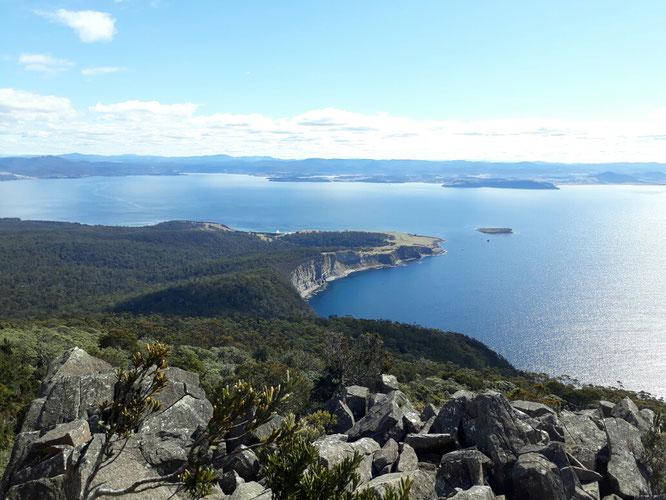Ausblick auf Maria Island und Tasmanien