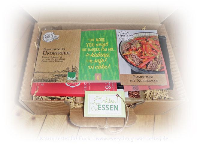 Der Preis der bio veganen Gourmetbox von Echtes! Essen liegt bei UVP 25,90 Euro.