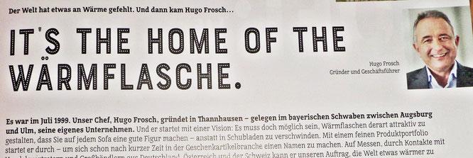 HUGO Frosch - Auszug aus dem Katalog - 20 Jahre WÄRME fühlen !