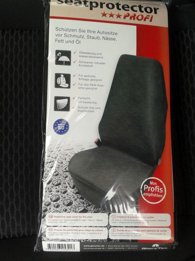 Schonbezug Glorytec für Autositze Verpackung