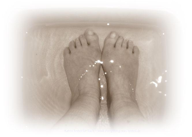 Die Füße einfach auch mal entspannen lassen - das ist doch toll oder ?