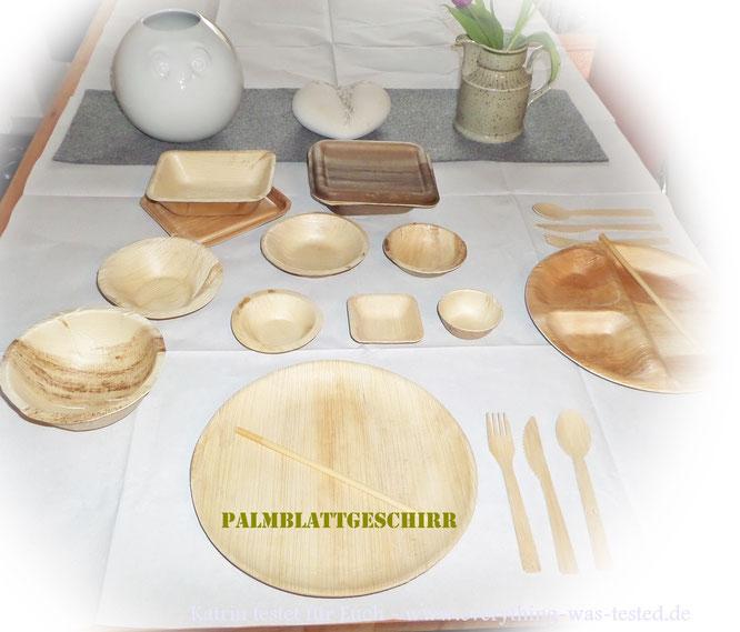 Palmblattgeschirr in viel Größen und Varianten