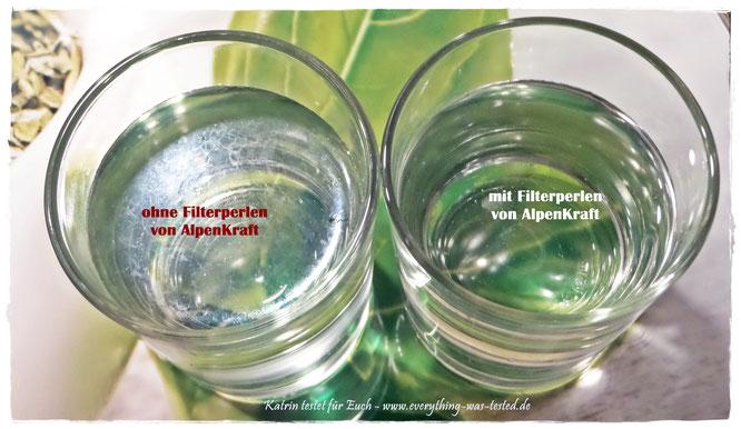 Kalknachweis - mit und ohne AlpenKraft® Filterperlen