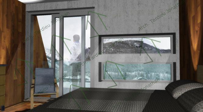 Vista interna camere (facciata 1 verso valle)