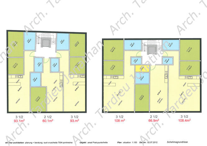 Planimetria appartamenti piano 2 edificio 1 e 2