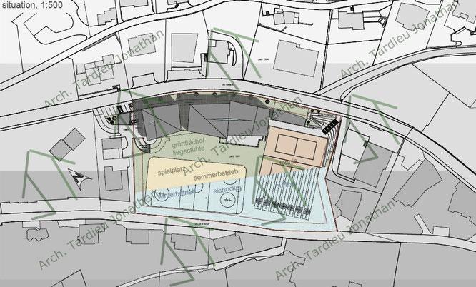 Planivolumetrico Sport pavillon