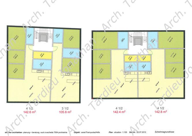 Planimetria appartamenti piano 1 edificio 1 e 2