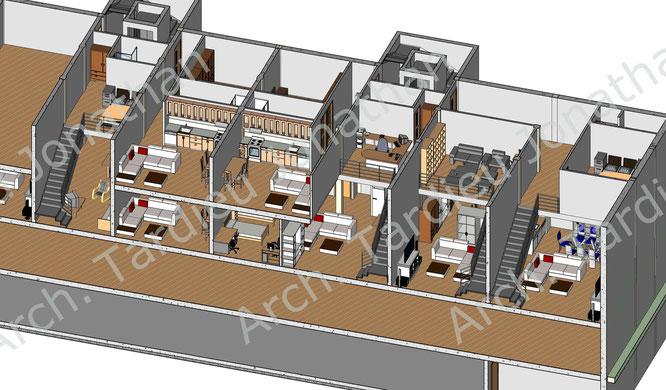 Vista 3d appartamenti duplex