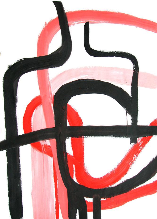 Strada Stella Rosa Stella Polare 2006 Cm 100 x 70 acrilici su cartoncino 3800