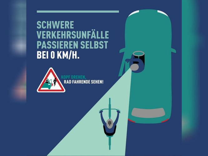 Behalte beim Aussteigen deine Tür im Griff! ©DVR