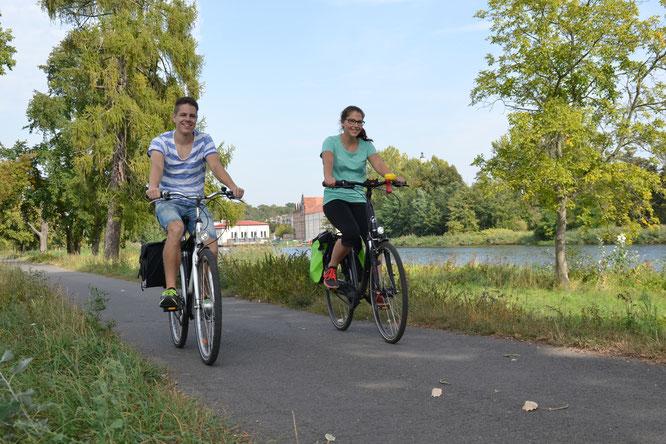 Oder-Neiße-Radweg bei Guben   Copyright: Marketing und Tourismus Guben e.V.