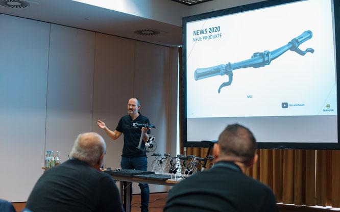 Bremsenspezialist MAGURA präsentierte die für die Verwendung am E-Bike optimierten eSTOP Komponenten.