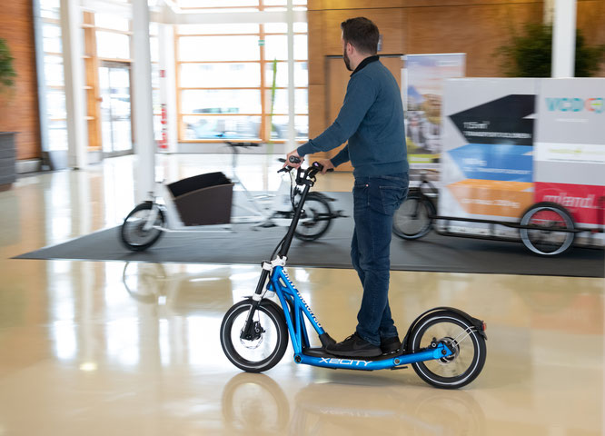 Mikromobilität zum Ausprobieren. Die erste micromobility expo, die Messe für Mikromobilität im urbanen Raum, fand vor kurzem in Hannover statt. © Messe Hannover