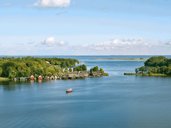 Die Müritz ist idealer Ausgangspunkt für abwechslungsreiche Naturtouren in der Mecklenburgischen Seenplatte. Bildnachweis: 1000seen.de/Christin Drühl
