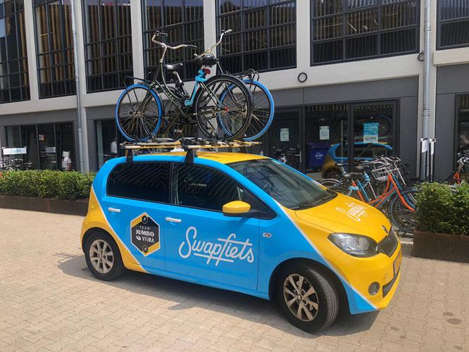 """Swapfiets ist das weltweit erste """"Fahrrad-as-a-Service""""-Unternehmen. Gegründet 2014 in den Niederlanden"""