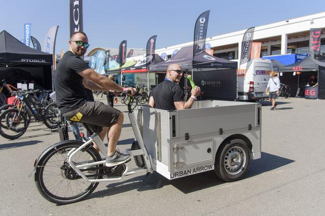 Eurobike 2019 - Lastenrad getestet von BikeSchmiede