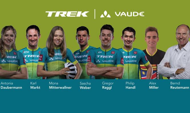 Trek | Vaude vertraut auf eine Mischung aus erfahrenen und jungen Athleten.