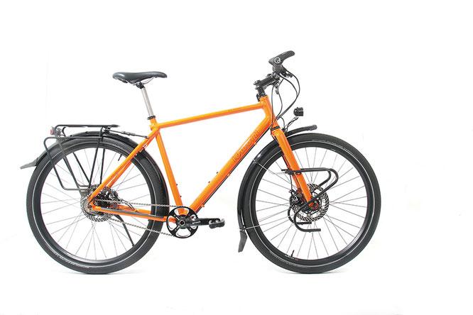 Der Radreisende kann sich auf ein Reiserad freuen, das bis ins letzte Detail durchdacht ist