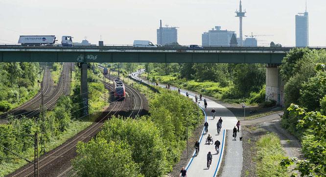 Radschnellweg Ruhr RS1 / Foto: Ministerium für Verkehr NRW, ADFC