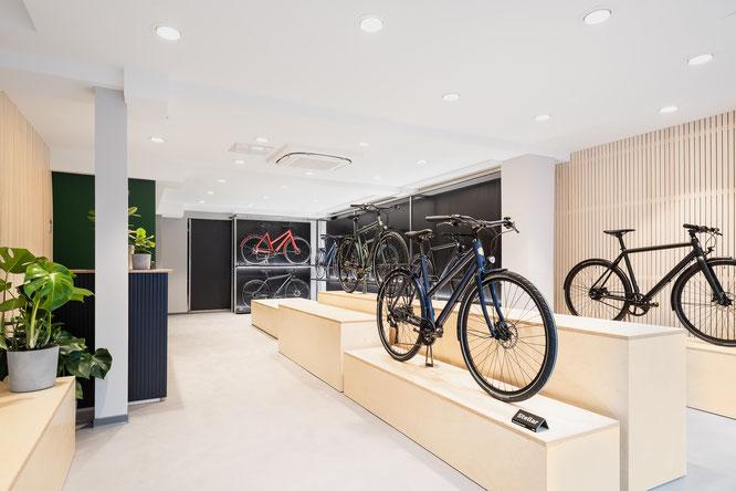 Erfolgreicher Start in Köln. Im neuen Ampler Bikes Showroom trifft Design auf Funktion