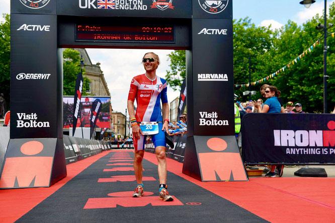 Fabian Rahn beim Ironman UK