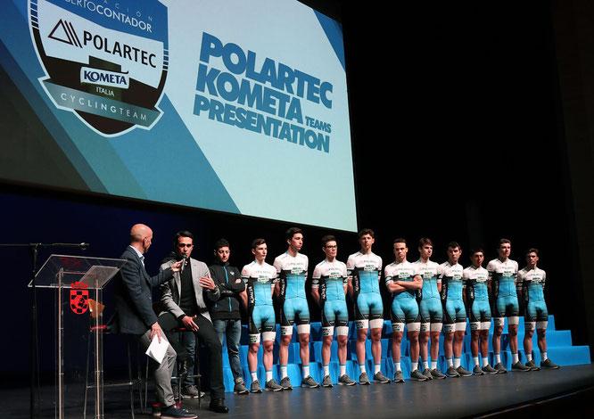 Fundación Alberto Contador stellt erstes Continental Team Polartec-Kometa vor